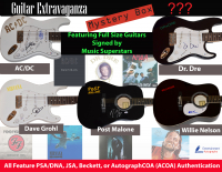 Entertainment Autographs Presents Guitar Extravaganza Mystery Box Series 1 - Featuring Full-Size Guitars Signed by Music Superstars at PristineAuction.com