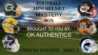 OKAUTHENTICS Football Mini Helmet Mystery Box Series II at PristineAuction.com