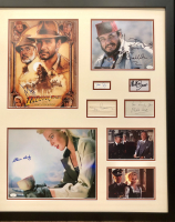 """Indiana Jones and the Last Crusade"" 29x34 Custom Framed Photo & Cut Display Signed by (7) with Harrison Ford, Sean Connery, Alison Doody, John Rhys-Davies (JSA COA & JSA LOA) at PristineAuction.com"