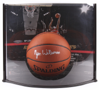 Zion Williamson Signed Official NBA Game Ball Series Basketball with Display Case (Fanatics Hologram) at PristineAuction.com