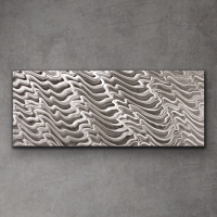 "Sebastian Signed S Series ""Composition 1105"" 24x60x1 Original Metal Art at PristineAuction.com"
