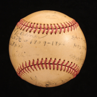 Vintage OL Baseball Signed By (9) With Chief Bender, Happy Chandler, Pop Kelchner (JSA LOA) at PristineAuction.com