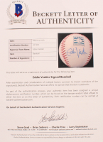 Eddie Vedder Signed OML Hall of Fame Baseball (Beckett LOA) at PristineAuction.com