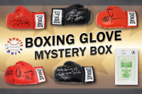 Schwartz Sports Boxing Superstar Signed Mystery Boxing Glove - Series 6 (Limited to 100) **MUHAMMAD ALI Autograph – Grand Prize** at PristineAuction.com
