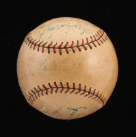 1928 Yankees Vintage OAL Baseball Signed By (9) With Lou Gehrig, Waite Hoyt, Joe Dugan, Johnny Grabowski (PSA LOA) at PristineAuction.com
