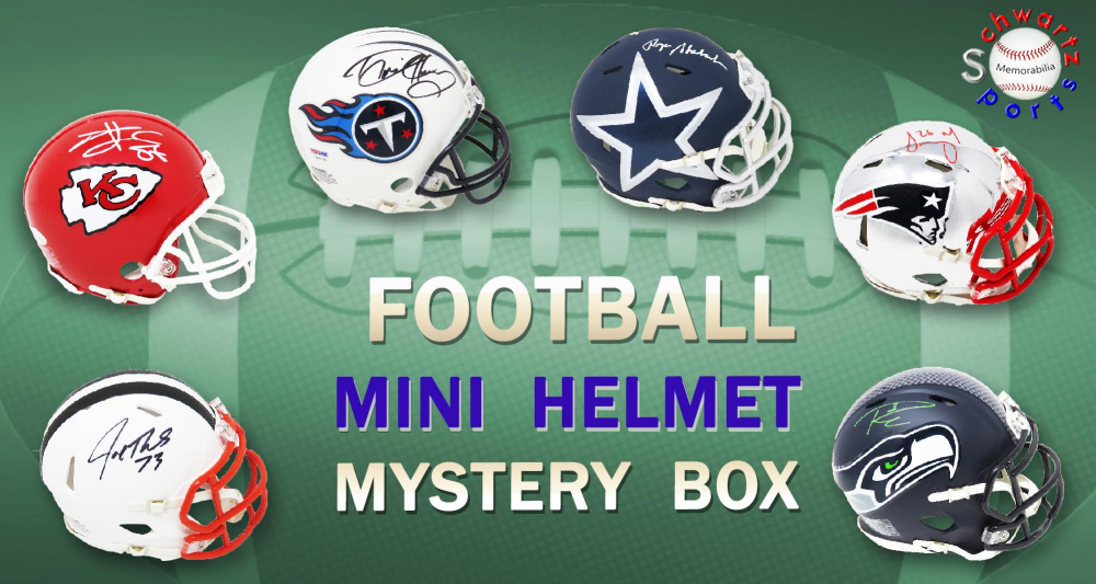 Schwartz Sports Football Superstar Signed Mini Helmet Mystery Box - Series 21 - (Limited to 100) at PristineAuction.com