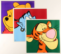 Lot of (3) 1997 Walt Disney LE 23.5x23.5 Lithographs with Winnie The Pooh, Tigger, & Genie at PristineAuction.com