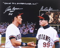 "Charlie Sheen & Corbin Bernsen Signed ""Major League"" 16x20 Photo Inscribed ""Dorn"" & ""Strike This Motherf***** Out"" (Beckett COA) at PristineAuction.com"