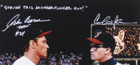 """Charlie Sheen & Corbin Bernsen Signed """"Major League"""" 16x20 Photo Inscribed """"Dorn"""" & """"Strike This Motherf***** Out"""" (Beckett COA) at PristineAuction.com"""