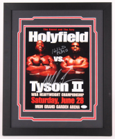 "Mike Tyson & Evander Holyfield Signed ""Holyfield vs. Tyson II"" 18x22 Custom Framed Photo Display (JSA COA) at PristineAuction.com"