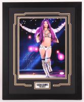 Sasha Banks Signed WWE 18x22 Custom Framed Photo Display (JSA COA) at PristineAuction.com