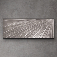 "Sebastian Signed S Series ""Composition 1107"" 24x60x1 Original Metal Art at PristineAuction.com"