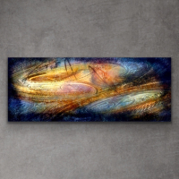 "Sebastian Signed S Series ""Composition 1108"" 24x60x1 Original Metal Art at PristineAuction.com"