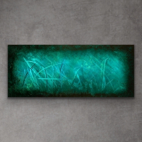 "Sebastian Signed S Series ""Composition 1109"" 24x60x1 Original Metal Art at PristineAuction.com"