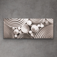 "Sebastian Signed S Series ""Composition 1111"" 24x60x1 Original Metal Art at PristineAuction.com"