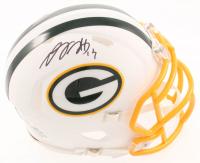 Davante Adams Signed Packers Matte White Speed Mini Helmet (JSA COA) at PristineAuction.com