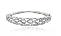 .25ct Genuine White Diamond Weave Bangle Bracelet at PristineAuction.com
