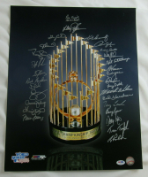 1986 Mets 16x20 Photo Team-Signed by (30) with Dwight Gooden, Darryl Strawberry, Gary Carter, Sid Fernandez, Ed Lynch (PSA Hologram) at PristineAuction.com