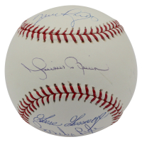 Yankees Closers LE OML Baseball Signed by (4) with Mariano Rivera, Dave Righetti, Sparky Lyle & Goose Gossage (Steiner Hologram) at PristineAuction.com