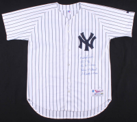 "Derek Jeter Signed LE Yankees Jersey Inscribed ""ROY 96"", ""96 WS Champs"", ""Yankees 4 Braves 2"" & ""A Dynasty Is Born"" (Beckett LOA) at PristineAuction.com"