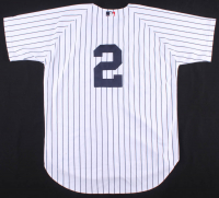 """Derek Jeter Signed LE Yankees Jersey Inscribed """"ROY 96"""", """"96 WS Champs"""", """"Yankees 4 Braves 2"""" & """"A Dynasty Is Born"""" (Beckett LOA) at PristineAuction.com"""