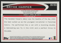 Bryce Harper 2012 Topps Update #US183 RC at PristineAuction.com