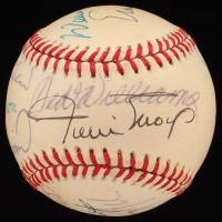 500 Home Run Club ONL Baseball Signed by (11) with Ernie Banks, Ted Williams, MIckey Mantle, Willie Mays, Reggie Jackson, Hank Aaron (Beckett LOA) at PristineAuction.com