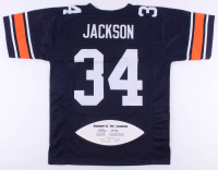 """Bo Jackson Signed LE Jersey with Career Stat Football Panel Inscribed """"Heisman 85"""" (JSA COA) at PristineAuction.com"""