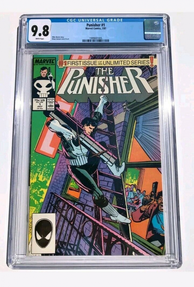 """1987 """"The Punisher"""" Issue #1 Marvel Comic Book (CGC 9.8) at PristineAuction.com"""