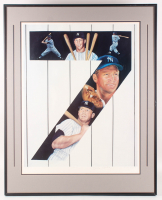 "Mickey Mantle Signed ""Yankee 7"" AP 32.25x40 Custom Framed Lithograph (JSA ALOA) at PristineAuction.com"