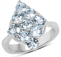 Blue Topaz .925 Sterling Silver Ring at PristineAuction.com