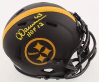 "Dermontti Dawson Signed Steelers Eclipse Alternate Mini Speed Helmet Inscribed ""HOF 12"" (Schwartz COA) at PristineAuction.com"
