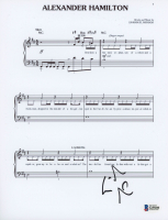 "Lin-Manuel Miranda Signed ""My Shot"" 8x10 Lyric Sheet (Beckett COA) at PristineAuction.com"