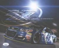 Jimmie Johnson Signed NASCAR 8x10 Photo Card (JSA COA) at PristineAuction.com