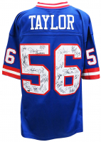 Giants Super Bowl XXI & XXV Champions Jersey Team-Signed by (29) with Phil Simms, Lawrence Taylor, Jeff Hostetler, Mark Bavaro (Schwartz COA) at PristineAuction.com