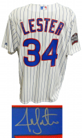 Jon Lester Signed Cubs 2016 World Series Jersey (Schwartz COA) at PristineAuction.com