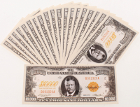 Lot of (20) 1920 Theodore Roosevelt $10,000 Dollar Gold Certificate Novelty Bills at PristineAuction.com