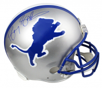 Barry Sanders Signed Lions Full-Size Authentic On-Field Throwback Helmet (Schwartz COA) at PristineAuction.com