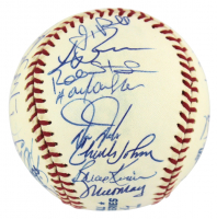 1997 Marlins World Series OML Team-Signed by (32) with Jim Leyland, Rich Donnelly, Gary Sheffield, Bobby Bonilla (JSA COA) at PristineAuction.com