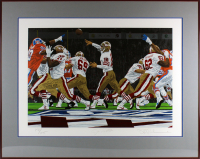 "Joe Montana Signed LE 49ers ""Best In The World"" 35.5x44.5 Custom Framed Lithograph Display (Beckett LOA) at PristineAuction.com"