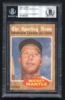 Mickey Mantle Signed 1962 Topps #471 All-Star (BGS Encapsulated) at PristineAuction.com