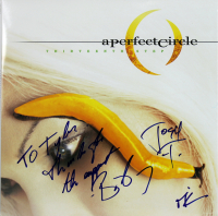 """Maynard James Keenan, Billy Howerdel, Josh Freese Signed A Perfect Circle """"This is a Thirteenth Step"""" Vinyl Record Album Inscribed """"Thanks For The Support"""" (Beckett LOA) at PristineAuction.com"""