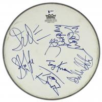 "Aerosmith 13"" Drum Head Band-Signed by (5) with Steven Tyler, Joe Perry, Tom Hamilton, Joey Kramer & Brad Whitford (Beckett LOA) at PristineAuction.com"