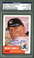 Mickey Mantle Signed 1991 Topps Archives '53 #82 (PSA Encapsulated) at PristineAuction.com