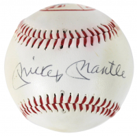 Mickey Mantle Signed Yankees Logo Baseball (Beckett LOA) at PristineAuction.com