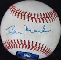 Billy Martin Signed ONL Baseball with Hand-Drawn Portrait (JSA COA) at PristineAuction.com