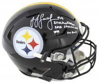 "JuJu Smith-Schuster Signed Steelers Full-Size Authentic On-Field SpeedFlex Helmet Inscribed ""Steelers Nation"", ""2018 Steelers MVP"" & ""2018 Pro Bowl"" (Beckett COA) at PristineAuction.com"