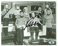 """Star Trek"" 8x10 Photo Cast-Signed by (4) with William Shatner, George Takei, James Doohan & Nichelle Nichols (Beckett LOA) at PristineAuction.com"