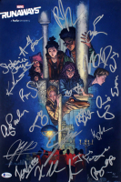 """Marvel """"Runaways"""" 11x17 Photo Cast-Signed by (21) with Virginia Gardner, Allegra Acosta, Ever Carradine, Annie Werching, Angel Parker (Beckett LOA) at PristineAuction.com"""