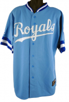George Brett Signed Royals Jersey with Multiple Career Stat Inscriptions (Beckett COA) at PristineAuction.com